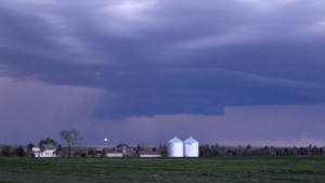 A closer look at the wall cloud